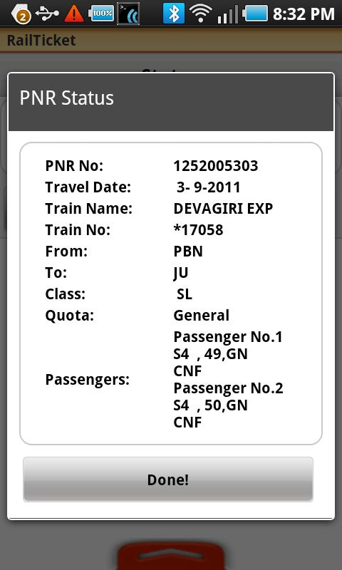 RailTicket Lite - screenshot