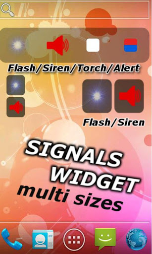 Flash one touch On Off Widget