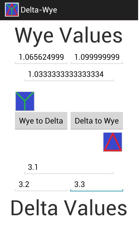Delta Wye Converter- screenshot