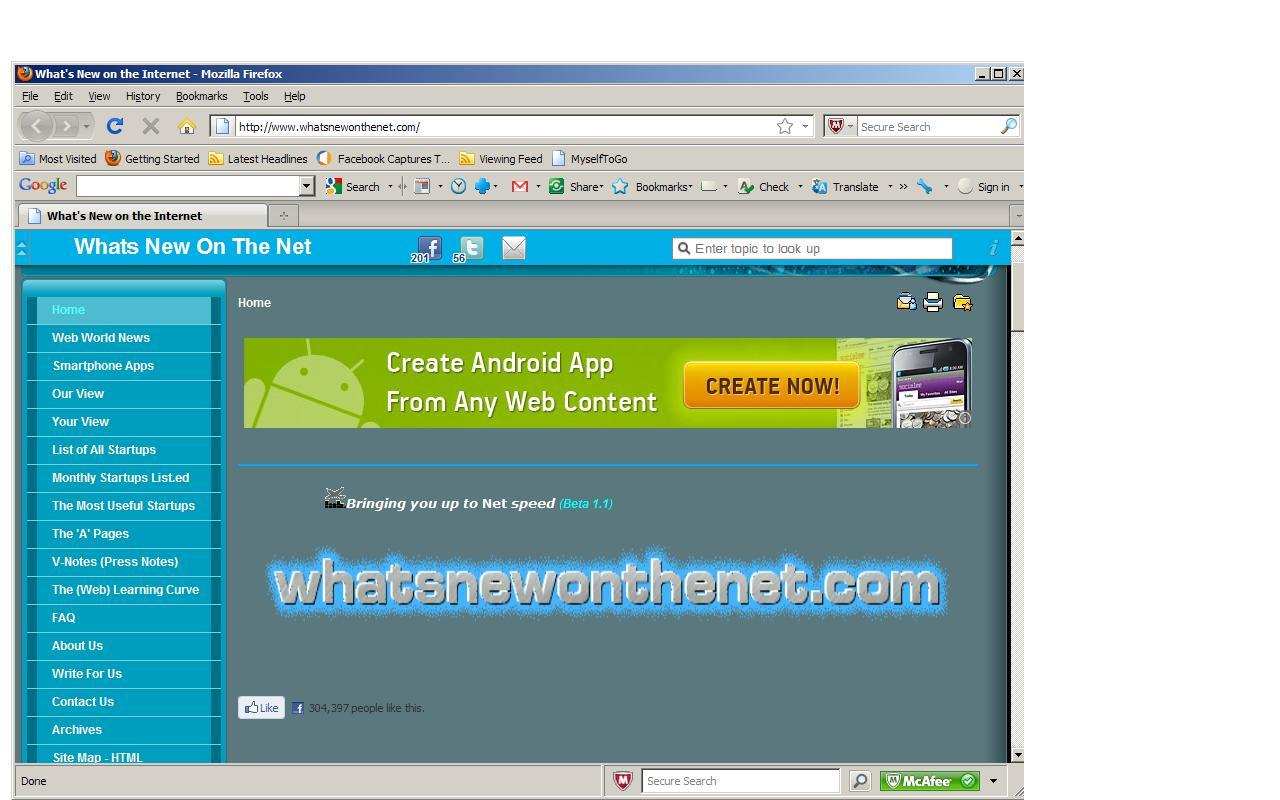 Whats New On The Net - screenshot
