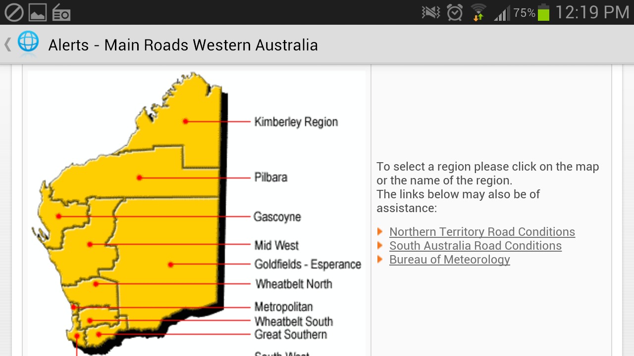 Perth Western Australia Alert - screenshot