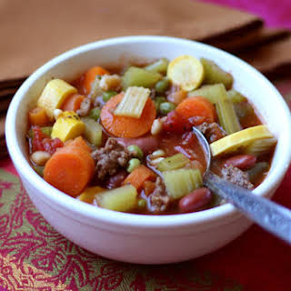 Italian Vegetable Soup with Summer Squash.