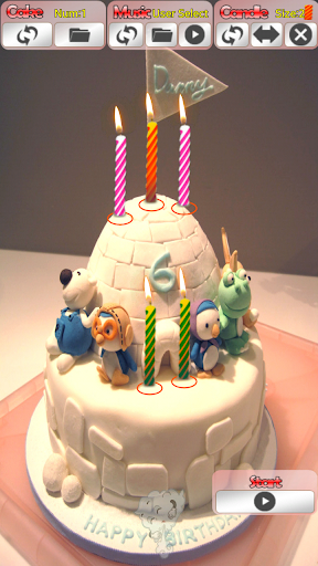 Birthday song cake and candle