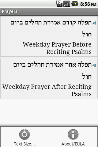 Tehillim (Psalms)- screenshot