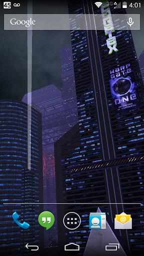 3D Live Wallpaper - Dark City