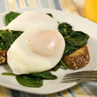 Poached Eggs Florentine.