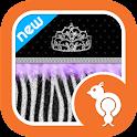 Diva Purple Zebra Theme Go SMS icon
