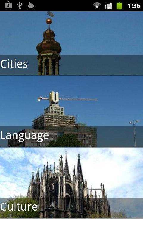 German Travel Guide- screenshot