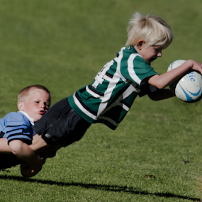 The Try by Trevor Bond - Babies & Children Children Candids ( child, sport, candid, nz, rugby, try,  )