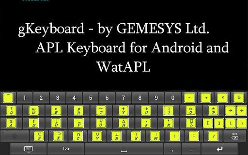 gKeyboard - APL keyboard
