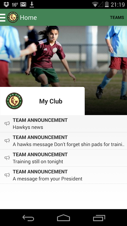 Glen Eira Junior Soccer Club - screenshot