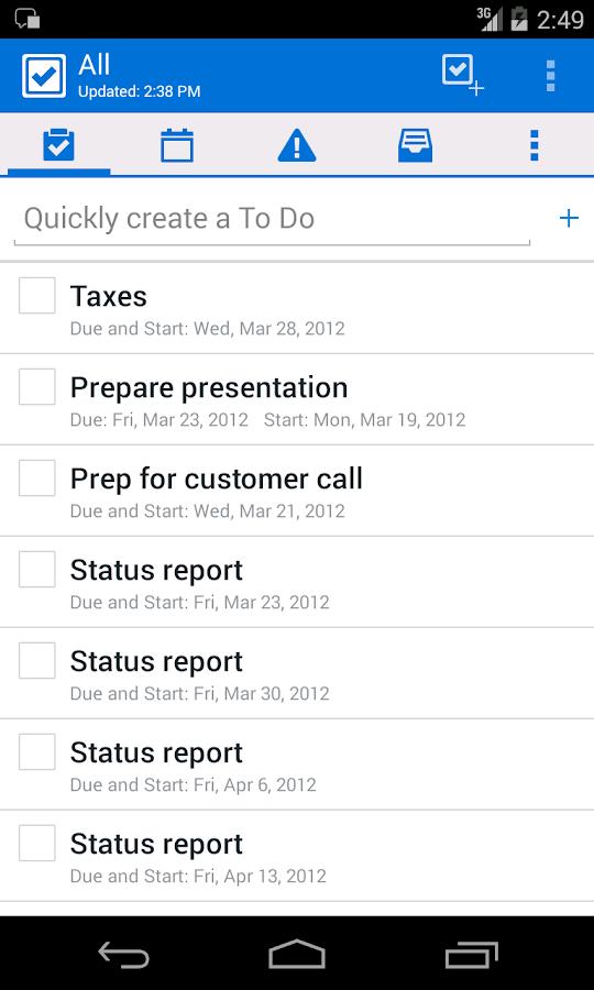 IBM Notes Traveler - screenshot