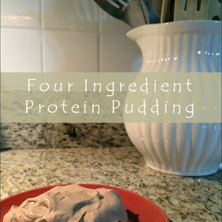 Four Ingredient Protein Pudding.