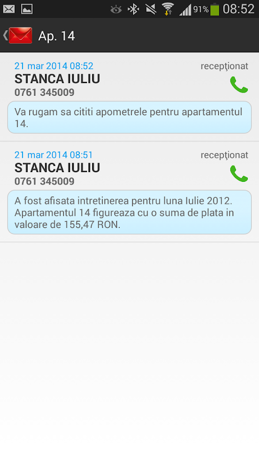 BlocManagerNET SMS- screenshot