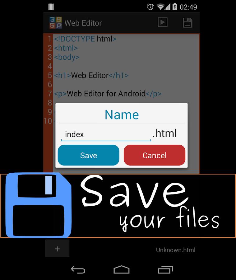 Web Editor (HTML Viewer)