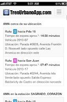 Screenshot of Tren Urbano App