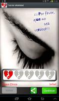 Screenshot of Test del Amor ¿Será infiel?