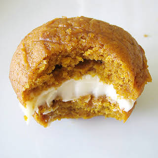 Pumpkin Whoopie Pies with Maple Cream Cheese Filling.