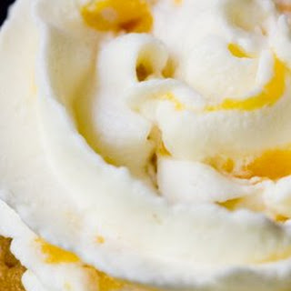 Whipped Cream Frosting with Peaches.