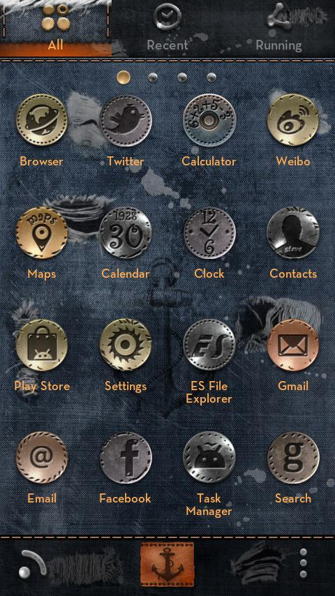 Jeans GO Launcher&Locker Theme - screenshot