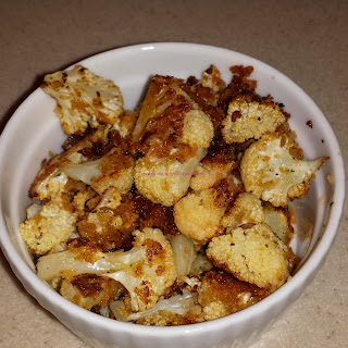 Roasted Ranch Cauliflower Bites