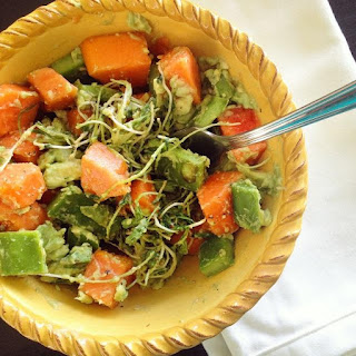 Raw Papaya-Nopal Salad (Oil Free)