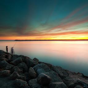 sunset by José Carlos Vieira - Landscapes Beaches ( viana do castelo )