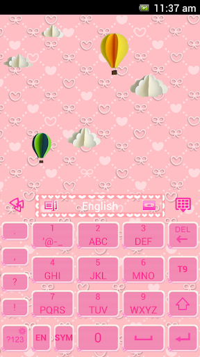 Pink Bowknot For Go Keyboard