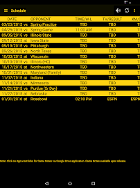 Hawkeye Football Schedule Screenshot 5