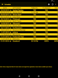 Hawkeye Football Schedule Screenshot 5
