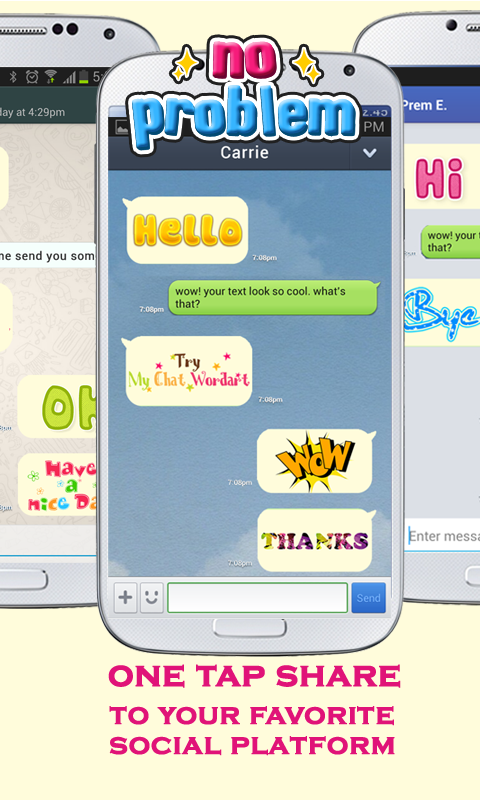 WordArt Chat Sticker for C- screenshot