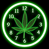 Pot Leaf Analog Clock