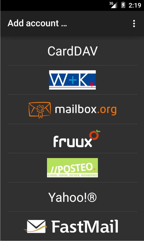 CardDAV-Sync - screenshot