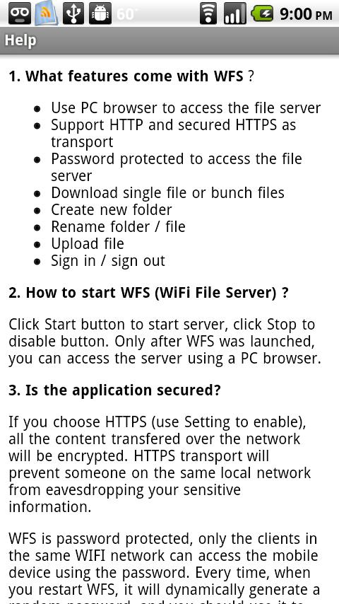 WiFi File Server Pro- screenshot