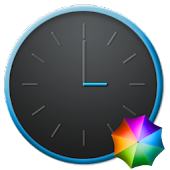 Grey&Blue elegant Clock Widget