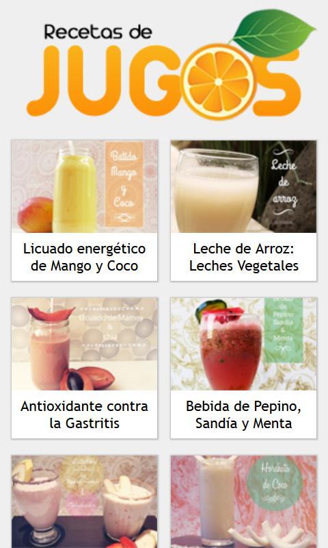 Recetas de Jugos - Android Apps on Google Play