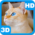 Purring Cute Domestic Cat icon