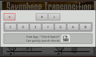 Screenshot of Sax Transposition