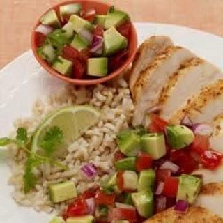 Cumin-Rubbed Chicken with Avocado Salsa