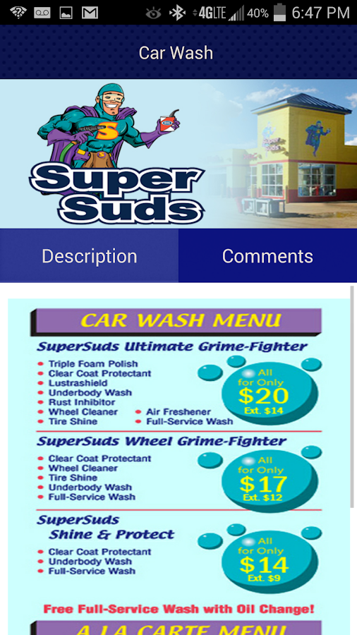 SuperSuds Car Wash- screenshot