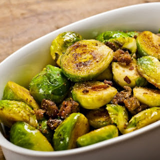Brussels Sprouts With Fried Chicken Liver.