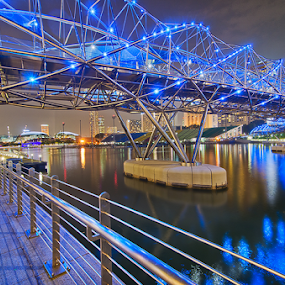 Helix Bridge by Ram Suson - Buildings & Architecture Bridges & Suspended Structures ( helix bridge, bridge, cityscape, marina bay, singapore )