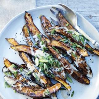 Sesame Miso-Glazed Eggplant.