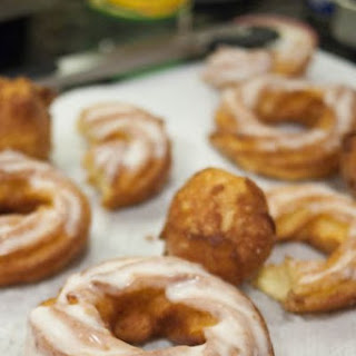 French Crullers with Bourbon Sugar Glaze