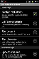 Screenshot of Talking Caller ID