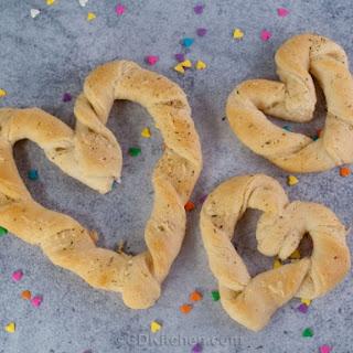 Valentine Breadsticks.