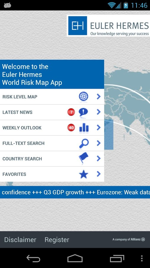 Euler Hermes World Risk Map - screenshot