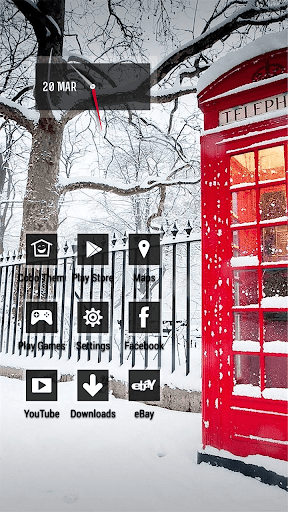 Winter Snow Phone Booth Theme