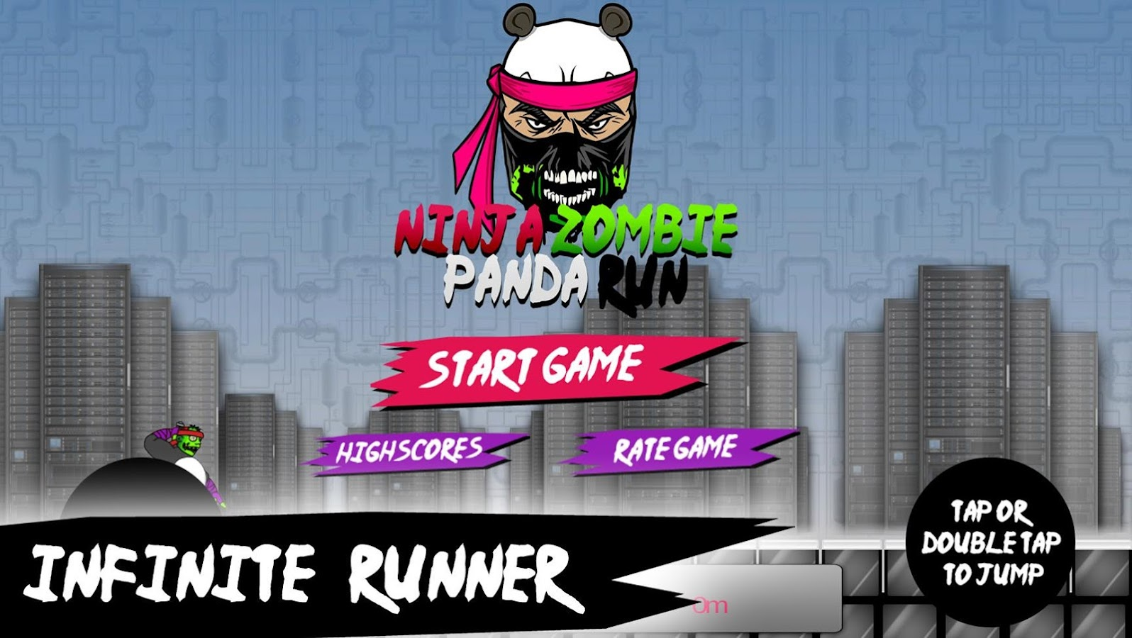 Ninja Zombie Panda Run- screenshot