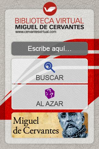 Biblioteca Virtual Cervantes - screenshot